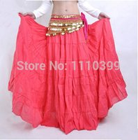 Cheap Fashion New Womens Multi Satin Skirt Belly Dance Costume Latin Gypsy Tribal Long Maxi Dress indian dress 9 colors