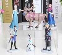 Wholesale Retail new Frozen Piece PVC dolls action Figure Anna Elsa Hans Kristoff Sven Olaf plastic toys kid s gift toy