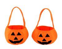 Wholesale Halloween Props Pumpkin Clothing Accessories Barrels Halloween Pumpkin Candy Bag Handbag Happy Halloween