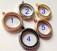 Wholesale 20pcs mixed colors Stainless Steel magnet crystal rhinestone mm Floating Living Lockets chain included