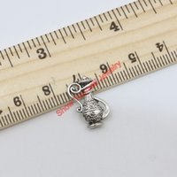 antique silver pots - Vintage Antique Silver Plated Wine Pot Charms Beads Pendants for Jewelry Making DIY Handmade x12mm B322 Jewelry making