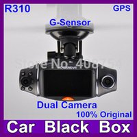 night view lens - Car dvr recorder camera with G sensor and degree wide view angle Lens night vision GPS logger AV OUTPUT Freeshipping