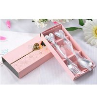Wholesale Brand New Stainless steel Love Heart Spoon and Fork Set J3G