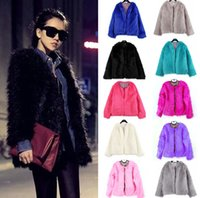 Wholesale New Arrivals Women Lady Warm Faux Fur Outerwear Coats Open Stitch Winter Warmers Parka Jacket Collar Sizes Dx100