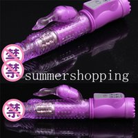 Wholesale 8 speeds Vibrator G Spot Jack Rabbit Vibrators Sex Product Dildo Vibrator Sexo Adult Erotic Sex Toy For Women purple