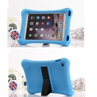 Wholesale Hot selling Hybrid Dual Layer Protective PC silicone Robot with stand Stripe case cover for ipad air ipad mini mini