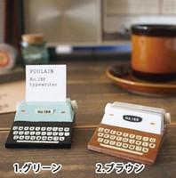 Wholesale colors Vintage ZAKKA Style Wooden typewriter Card Holder Messager holder