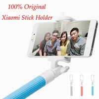 Wholesale 100 Original Xiaomi Selfie Monopod Stick Holder Extendable Handheld Bluetooth Shutter for IOS Android Mobile Phone