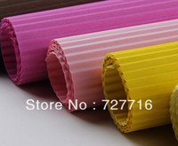 Wholesale sheet Gift packing corrugated paper Floral wrapping material flower packing wavy paper cm cm