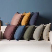 bamboo chair cushion - Ikea cushion cover quot plain linen cotton pillow covers pure colour double faced pillow case seat cushions chair throw pillows
