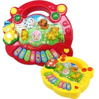 Wholesale S5Q Popular Baby Kid Animal Farm Piano Music Toy Developmental Hot AAACLR