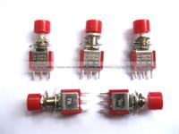 al por mayor rojo interruptor de botón momentáneo-60 Piezas Momentary Botón Rojo Interruptor 250V 2A 5A 3pin Nuevo