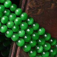 Natural granos de piedra verde oscuro del ojo de gato granos flojos del ópalo Onyx piedra preciosa semi 10mm 8mm 6mm 12mm F0021