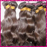Wholesale New Queen Raw Cambodian Natural body wave hair Natural brown Black Luster A Virgin Hair Weaves No Tangle