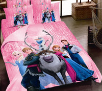 Wholesale 2016 Real Duvet Cover New Arrival Set Pieces Full Bed Sheet Cover Cotton d for Frozen Reactive Printing Pieces Kids Duvet Sets