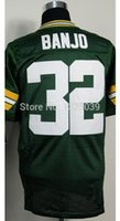 authentic jersey sizes - Factory Outlet Chris Banjo Jersey Green Elite Football Jersey New Best Quality Authentic Embroidery Logo Size M XL