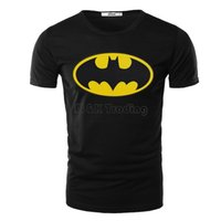 batman colors - 2016 New Spring And Summer Top Tees Men T Shirts Batman Printing Colors Casual Short Sleeve