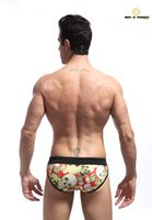 Wholesale Brand Men s Skull Printed Swimming briefs Comfortable Polyester swimming trunks sexy string bikini swimwear shorts