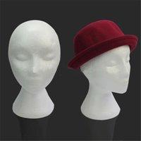Wholesale Styrofoam Foam Female Mannequins Display Head Stand Model Dummy Wig Glasses Hat