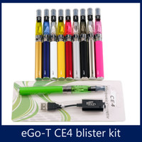 Wholesale CE4 Electronic Cigarette Blister kits CE4 ego starter kit mah mah mah EGO T battery E cigarette blister kit