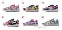 barefoot sneaker - 2015 New Design Roshe Run Floral Flower Women Running Shoes Hot Sale London Mesh Barefoot Sports Sneakers Casual Eur Size