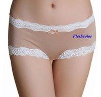 Wholesale natural silk female lace sexy lingerie pure silk lace underwear women silk women lace boxers pure silk lace panties