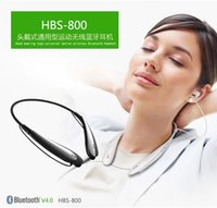 ear covers - 2015 New HBS HBS Wireless Sport Neckband Headset Hard Cover In ear Headphone Bluetooth Stereo Earphones Headsets