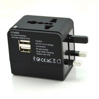 Wholesale All In One UK US AU EU Plug Universal World Travel AC Adapter Power Charger USB Ports Input V Output V A