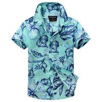 aloha shipping - new arrival cotton floral shirt hawaiian shirt aloha shirt for boy T1509