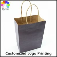 Cheap 30pcs lot New Style kraft paper bag with handle Party Gift Paper Bags21x15x8cm Can customized Logo Printing