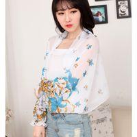 Wholesale Ladies shawls scarves shawls summer sun prevent ultraviolet ray drive cycling Chiffon shawl size cm cm