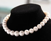Wholesale AAA quot mm REAL NATURAL south sea white pearl necklace K GOLD