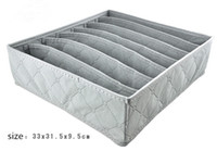 Wholesale New Arrive pieces a set foldable box Bamboo Charcoal fibre Storage Box for bra underwear necktie socks