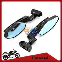 Wholesale Black Motorcycle Mirror Sport Bike Moto Bar End Mirror Rearview Side Mirror For Yamaha FZR YZF R R1 R6 R6S Kawasaki Ninja order lt no