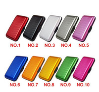 Wholesale 150pcs Women Men Aluminum Metal Wallet Business ID Credit Card Case Holder Anti RFID Scanning Free DHL Fedex