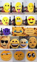 Wholesale 2015 new soft Cushion cute lovely Emoji smiley pillow expression cartoon facialcreative pillows round stuffed plush toy gift for kids