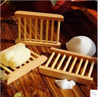 Wholesale 500pcs Natural Wooden Soap Dish Plate Tray Holder Box Case Shower Hand washing DHl