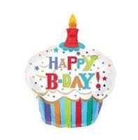 balloon shaped birthday cake - Aluminum foil Happy birthday cake shape quality party balloons pc x50cm