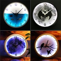 Wholesale Creative Classic LED Wall Clocks Fashion Clock For Home Decor Friend Birthday Christmas Gifts Designs