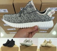 Wholesale 2016 New Black White Air Yeezy boost Men and Women Running Shoes Fashion Kanye West milan Moonrock Oxford Tan Running Sports Shoes