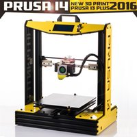 Wholesale 2016 New Arrival High Precision Big Size Upgraded Reprap Prusa i3 plus i4 DIY d Printer kit with Rolls Filament SD card