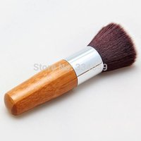 best buffer brush - Cosmetic Makeup Basic Tool Wooden Flat Top Buffer Foundation Powder Brush Best Selling
