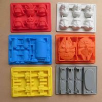 arrival hans - New Arrival Silicone Star Wars Ice Cube Tray Ice Mold Falcon R2D2 Storm Trooper X Wing Darth Vader Hans Solo