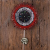 Wholesale Green Red Silver Wall Clocks Decor Antique Europe American Classical Wall Clocks Large Round Quartz Wall Clocks Ring Reloj GZ16011