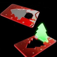 Wholesale Christmas Tree Novelty Lighting Portable Cards Ultrathin Colors Gifts easily to put in your wallet