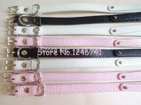 beautiful pet animals - 20pcs beautiful mm mm snake skin pet dog collar buckled collar can through DIY mm letter and charms