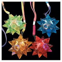 beautiful pendant lights - VSEN New Beautiful Light Up Flashing Star LED Ball Pendant Necklace Light Up Partly