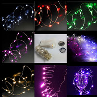 20pcs micro led battery operated dryer - CR2032 battery operated M LEDS micro led fairy string light Copper Wire led Light strings as festive lighting for celebrations event