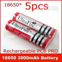 Wholesale Ultrafire Rechargeable Lithium lon mAh battery protected for LED torch