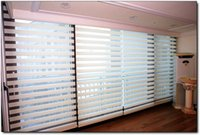 Wholesale Hot Sales Polyester Transparent White Zebra Blinds Ikea Customized Window Curtains for Living Room GY01